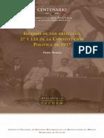 Rouaix, Pastor. - Genesis de los Articulos 27 y 123 de la Constitucion politica de 1917 [2016]