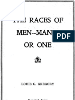 The Races of Men-Many or One