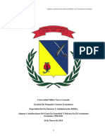 Algunas Consideraciones Del Gasto Militar en El Crecimiento Económico