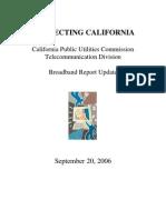 Calif. PUC Broadband Update report