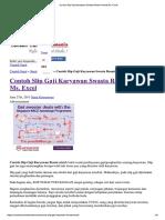 Contoh Slip Gaji Karyawan Swasta Resmi Format Ms