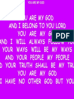 You Are My God (I Belong to You Lord)