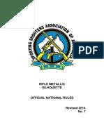 Rifle Metallic Silhouette Rule Book