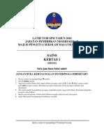 Latih Tubi SPM Kertas 1 2018
