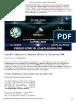 Prediksi Skor Palmeiras vs America Mineiro