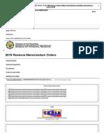 2018 Revenue Memorandum Orders - Bureau of Internal Revenue