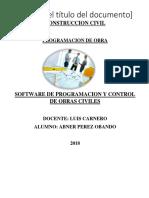Software de Programacion de Obra