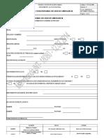 Formato Ficha Personal en Caso de Emergencia