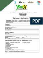 Yute X 2010 Application Form
