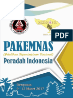 Proposal Pakemnas Peradah Indonesia 2017