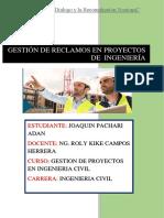 Actividad 14.-Gestión de Reclamos en Proyectos de Ingeniería Civil