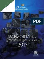 Memoria de la economia Boliviana 2017