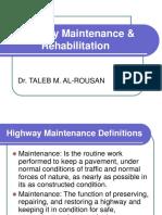 Highway Maintenance &Amp; Rehabilitation