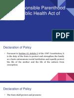 Republic Health Act of 2012