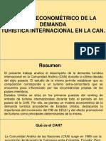 Análisis económetrico de la demanda turística internacional en la CAN.