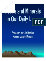 Rocks and Minerals in Our Daily Lives