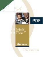 Óptica Saracco, catálogo