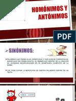 Homónimos y Antónimos