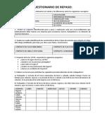 Cuestionario de Repaso Legislación Laboral