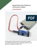 Sensor de Humedad Detección Módulo de Detección de Lluvia Para Arduino