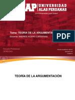 LOGICA Y ARGUMENTACION JURIDICA-Definicion de Teoria de La Argumentacion