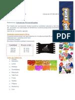 Cotización Caramelos - BOOKS