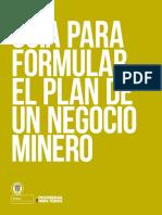 Guía Para Formular El Plan de Un Negocio Minero