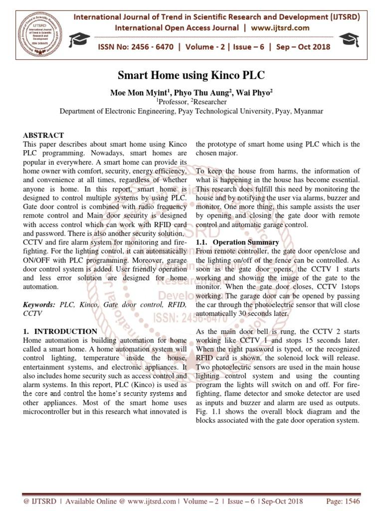 Smart Home using Kinco PLC | Automation | Programmable Logic