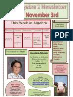 this week in algebra1