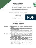 SK Tentang Mekanisme Komunikasi Dan Koordinas Program
