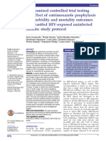 Randomised Controlled Trial Testing the Effect of Cotrimoxazole Prophylaxis on Morbidity and Mortality Outcomes in Breastfed HIV-exposed Uninfected Infants Study Protocol