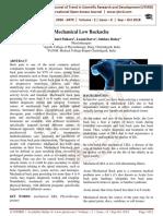 Mechanical Low Backache