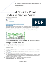 Label Corridor Point Codes in Section View