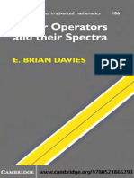 E. Brian Davies-Linear Operators and Their Spectra