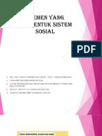 Elemen Yang Membentuk Sistem Sosial [Autosaved]