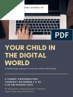 "Parent Conversation - ""Your Child in the Digital World"""