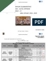 Didactic 2018-2019 Planificari Calendaristice Clasele I - IV