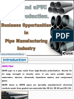 HDPE and uPVC Pipes Production