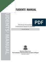 Chartered Accountancy Scheme Syllabus