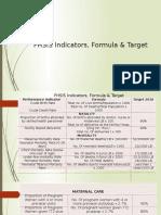 4,FHSIS Indicators, Formula & Target