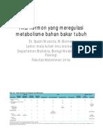 Aksi Hormon Yang Meregulasi Metabolisme Bahan Bakar Tubuh