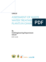 Assessment of Waste Water Plant Report