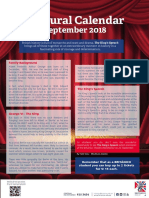 09 Cultural Calendar September2018