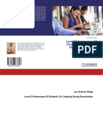 LEVEL OF AWARENESS OF SECONDARY LEARNERS ON CHEATING DURING EXAMINATION (ISBN 978-613-7-03739-3)