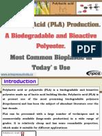 Polylactic Acid (PLA) Production