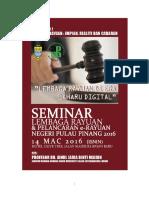 Planning Appeal Board Penang Seminar AJM 2016