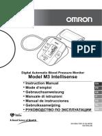 Instrucciones Tensiometro OMRON M3 Intellisense