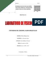 Informe 6 -Viscosidad, Radio Molecular