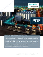 Development Trends in Cogeneration and Combined Heat and Power Plants