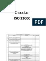 Check List 22000